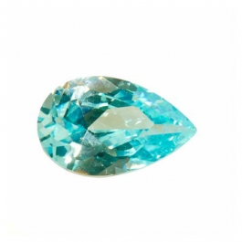 12X8mm Pear Aquamarine CZ - Pack of 1