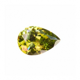 12X8mm Pear Olive CZ - Pack of 1