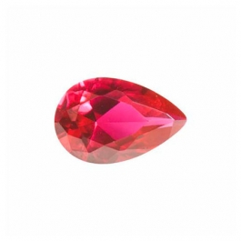 12X8mm Pear Ruby Corundum - Pack of 1