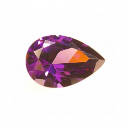 12x8mm Pear Amethyst CZ - Pack of 1