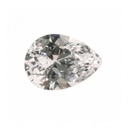 12X8mm Pear White CZ - Pack of 1