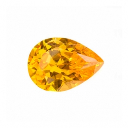 12x8mm Pear Golden Yellow CZ - Pack of 1