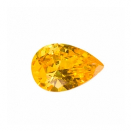 12X8mm Pear Yellow CZ - Pack of 1