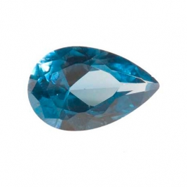 12X8mm Pear Blue Zircon CZ - Pack of 1