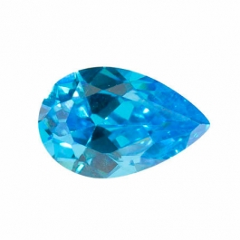 14X9mm Pear Blue CZ - Pack of 1
