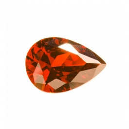 14x9mm Pear Garnet CZ  - Pack of 1
