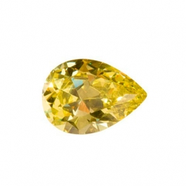 14x9mm Pear Peridot CZ - Pack of 1