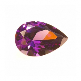 14x9mm Pear Amethyst CZ - Pack of 1