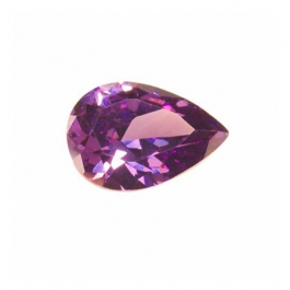 14x9mm Pear Light Amethyst CZ - Pack of 1