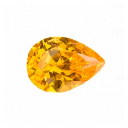 14x9mm Pear Golden Yellow CZ - Pack of 1