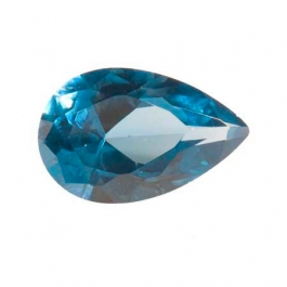 14X9mm Pear Blue Zircon CZ - Pack of 1
