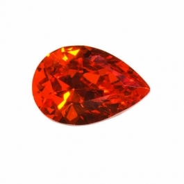 18X13mm Pear Red CZ - Pack of 1
