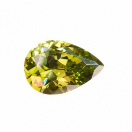 18X13mm Pear Olive CZ - Pack of 1
