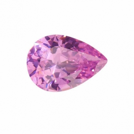 18x13mm Pear Pink Rose CZ - Pack of 1