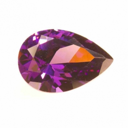 18x13mm Pear Amethyst CZ - Pack of 1