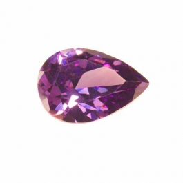 18x13mm Pear Light Amethyst CZ - Pack of 1
