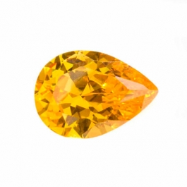 18X13mm Pear Golden Yellow CZ - Pack of 1