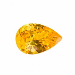 18X13mm Pear Yellow CZ - Pack of 1