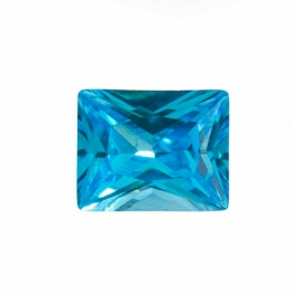 10X8mm Rectangle Blue CZ - Pack of 1