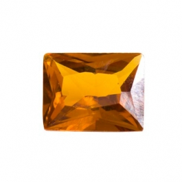 10X8mm Rectangle Citrine CZ - Pack of 1