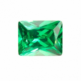 10X8mm Rectangle Emerald Green CZ - Pack of 1