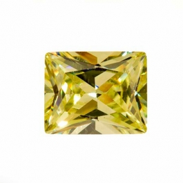 10X8mm Rectangle Apple Green CZ - Pack of 1