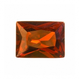 10X8mm Rectangle Garnet CZ  - Pack of 1