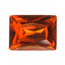 10X8mm Rectangle Red CZ - Pack of 1