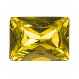 10X8mm Rectangle Peridot CZ - Pack of 1