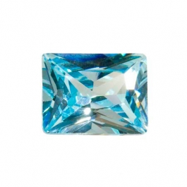 10X8mm Rectangle Aquamarine CZ - Pack of 1