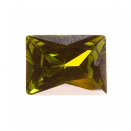 10X8mm Rectangle Olive CZ - Pack of 1