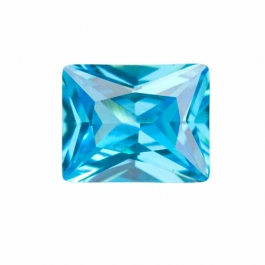 10X8mm Rectangle Blue Topaz CZ - Pack of 1