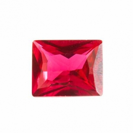 10X8mm Rectangle Ruby Corundum - Pack of 1