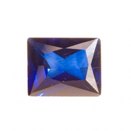 10X8mm Rectangle Sapphire CZ - Pack of 1