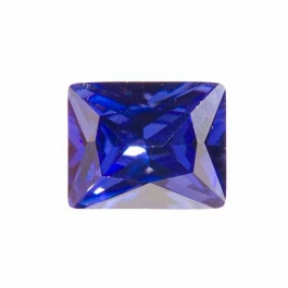 10X8mm Rectangle Tanzanite CZ - Pack of 1
