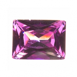 10X8mm Rectangle Amethyst CZ - Pack of 1