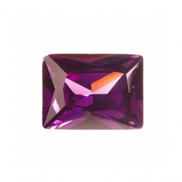 10X8mm Rectangle Light Amethyst CZ - Pack of 1