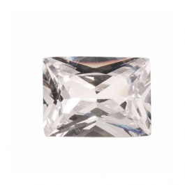 10X8mm Rectangle White CZ - Pack of 1
