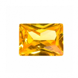 10x8mm Rectangle Golden Yellow CZ - Pack of 1