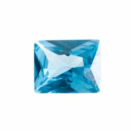 10X8mm Rectangle Blue Zircon CZ - Pack of 1