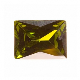 16X12mm Rectangle Olive CZ - Pack of 1