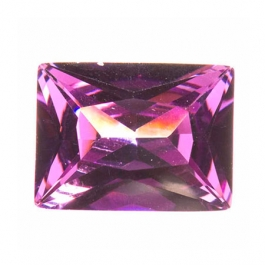16x12mm Rectangle Amethyst CZ - Pack of 1