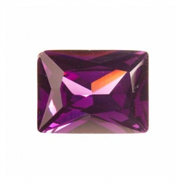 16x12mm Rectangle Light Amethyst CZ - Pack of 1
