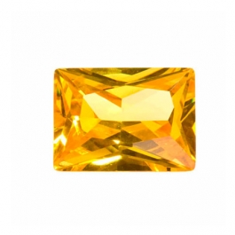 16X12mm Rectangle Golden Yellow CZ - Pack of 1