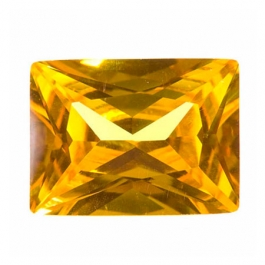 16X12mm Rectangle Yellow CZ - Pack of 1