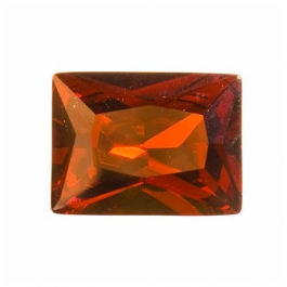 18x13mm Rectangle Garnet CZ  - Pack of 1