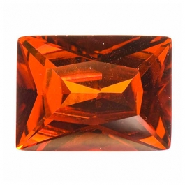 18X13mm Rectangle Red CZ - Pack of 1