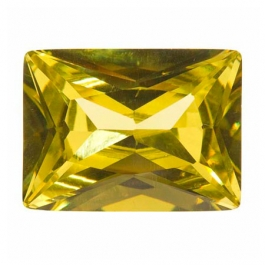 18X13mm Rectangle Peridot CZ - Pack of 1