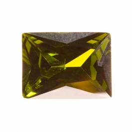 18X13mm Rectangle Olive CZ - Pack of 1