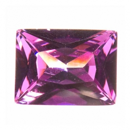 18X13mm Rectangle Amethyst CZ - Pack of 1
